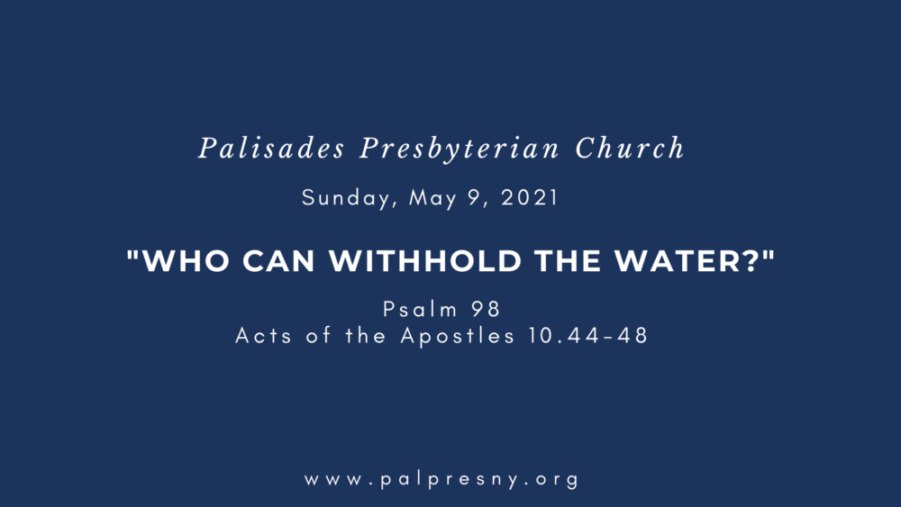 Who Can Withhold the Water?