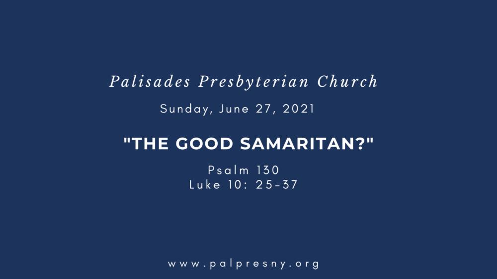 The Good Samaritan?
