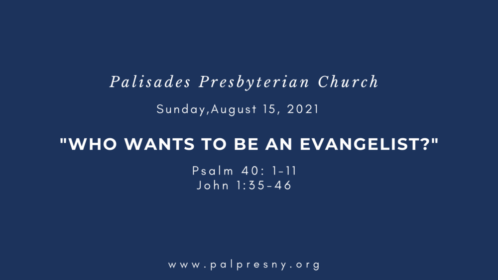 Who Wants to Be an Evangelist?